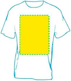 Camiseta personalizada pecho