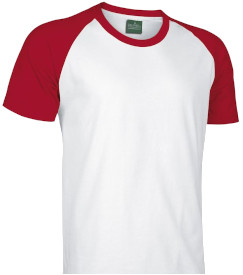 Camiseta personalizada bicolor